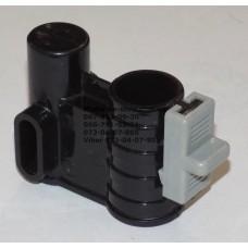 Осевой блок переднего колеса + фиксатор в сборе к коляске Geoby D222, D205, D208, D209 (черный-св. серый) (17379)