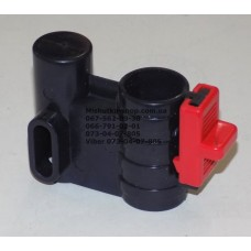 Осевой блок переднего колеса + фиксатор в сборе к коляске Geoby D222, D205, D208, D209 (темно-синий-красный) (28224)