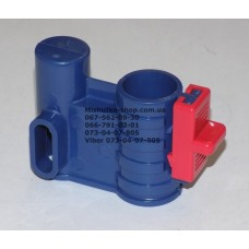 Осевой блок переднего колеса + фиксатор в сборе к коляске Geoby D222, D205, D208, D209 (темно голубой-красный) (28232)