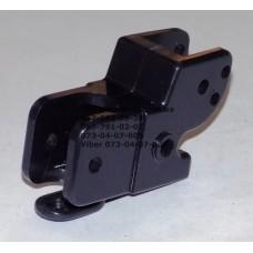 Осевой блок заднего колеса без тормозной педали к коляске Geoby D208, D205, D209, D222(темно-синий корпус) (d=16мм, 16*16мм) (28372)