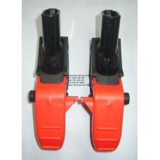 Осевой блок заднего колеса + тормозная педаль к коляске Geoby C519 (черный) (16*30мм) (28602)