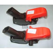 Осевой блок заднего колеса + тормозная педаль к коляске Geoby C519 (коричневый) (16*30мм) (28604)