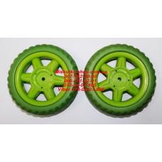 Акция. Колесо отдельно к коляске Geoby D222 (зеленый) (130*6mm) (28933)