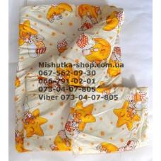 Одеяло с подушкой силикон (бязь) (28971)
