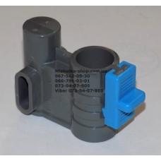 Осевой блок переднего колеса + фиксатор в сборе к коляске Geoby D222, D205, D208, D209 (темно-серый-голубой) (29068)