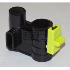 Осевой блок переднего колеса + фиксатор в сборе к коляске Geoby D222, D205, D208, D209 (черный-салатовый) (29071)