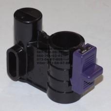 Осевой блок переднего колеса + фиксатор в сборе к коляске Geoby D222, D205, D208, D209 (черный-фиолетовый) (29072)