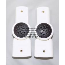 Шарнир 13 точек, белый корпус - черная кнопка 20*30мм-22*42мм (29108)