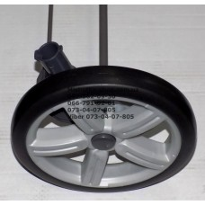 Ось задняя с тормозом и 2-мя колесами в сборе к коляске Geoby С879 - серая (29144)