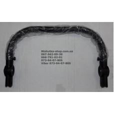 Ручка с шарнирами регулировки по высоте с оплеткой из эко-кожи (черный) (29177)