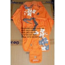Ткань коляски Geoby D208 оранжевый (29327)