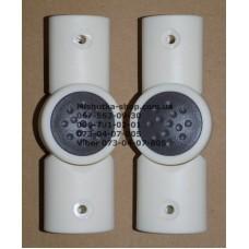 Шарнир 20*30мм-26*36мм, белый корпус - серая кнопка (29437)