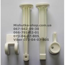 Шток с эксцентриком для регулировки амортизатора для детской коляски (белый) (29540)