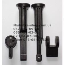 Шток с эксцентриком для регулировки амортизатора для детской коляски (черный) (29541)