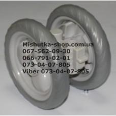 Блок переднего колеса к коляске Geoby D208, D204, D205, D209, D388 (светло-серый-серый) (145*7) (29558)
