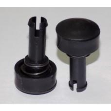 Фиксатор-втулка колеса d=12-31мм, длина ножки 31 мм. (29776)