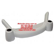 Блок переднего колеса коляски (копыто) (крепление к раме 22*42мм) белый(29786)
