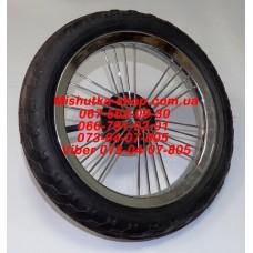 """Колесо 12"""" не надувное для детской коляски  Geoby C706 (шток: d=10мм , l=75 (9+6+60) есть 1 штука (29823)"""
