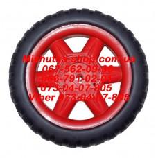 Акция. Колесо к коляске (красный) (130*6mm) (29843)