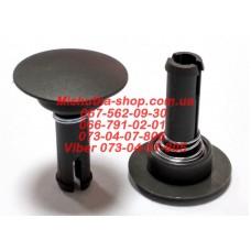 Фиксатор-втулка колеса d=15-49мм, длина ножки 38 мм. Серый (29933)