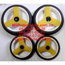 Акция. Комплект не надувных колес (8*240мм-2 штуки + 10*300мм-2 штуки) серая резина (29952)