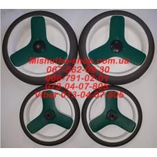 Акция. Комплект не надувных колес (8*240мм-2 штуки + 10*300мм-2 штуки) серая резина (29954)