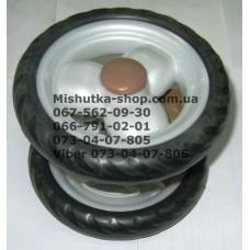 Блок переднего колеса к коляске Geoby D208 (белый-черный) (145*7) (28472)