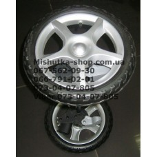 Ось задняя с тормозом и 2-мя колесами в сборе к коляске Geoby C705 (псевдорезина) (290*10) (28490)