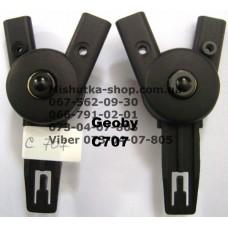 Крепления для дуг капюшона к корзине комплект (лев. + прав) к коляcке Geoby С707 (17318)