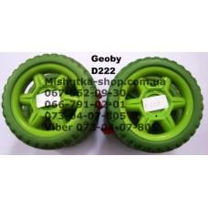 Блок переднего колеса к коляске Geoby D222 (зеленый) (125*6mm) (17364)
