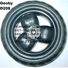 Акция. Колесо отдельное на коляску Geoby D208 - черный диск/черная резина (140*7mm) (17366)