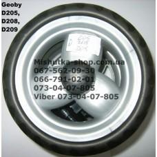 Блок переднего колеса к коляске Geoby D208 (серый-черный) (145*7) (17367-1)