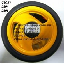 Блок переднего колеса к коляске Geoby D204/D208 (желтый) (140*6) (17373)