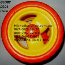 Блок переднего колеса к коляске Geoby D208 (оранж) (145*7) (17375)