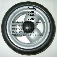 Акция. Колесо отдельное на коляску Geoby D208 - серый диск/черная резина (140*7mm) (28056)