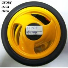 Акция. Колесо отдельно к коляске Geoby D204, D205, D208, D209 (желтый) (140*6) (28124)