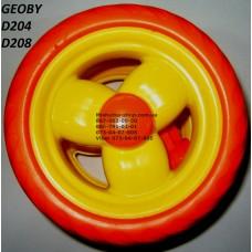 Акция. Колесо отдельно к коляске Geoby D204, D205, D208, D209 (оранж) (145*7) (28126)