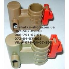 Осевой блок переднего колеса + фиксатор в сборе к коляске Geoby D222, D205, D208, D209 (коричневый  (28215)