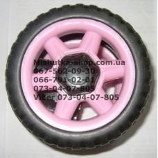 Акция. Колесо отдельно к коляске Geoby D222 (розовое) (130*6mm) (28253)