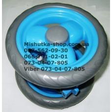 Блок переднего колеса к коляске Geoby D208, D204, D205, D209, D388 (голубой) (145*7) (28406)