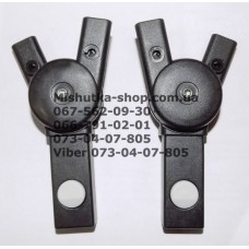Крепления для дуг капюшона к корзине комплект (лев. + прав) к коляcке Geoby C800 (28435)